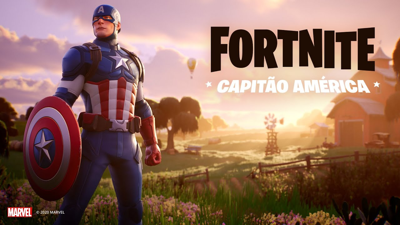 Skin do capitão américa no Fortnite